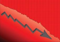 危机绘制下降的财务费率 向量例证