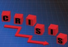 危机绘制下降的财务费率 库存例证