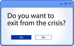 危机视窗 图库摄影