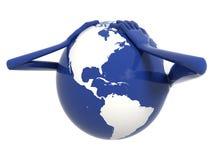 危机财务世界 皇族释放例证