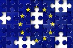 危机财务的欧洲 库存例证