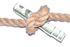 危机绘制下降的财务费率 资助的终止 库存照片