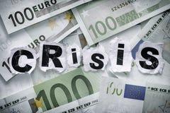 危机绘制下降的财务费率 免版税库存图片