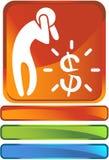 危机财务图标 免版税库存照片