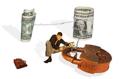 危机财务 库存照片