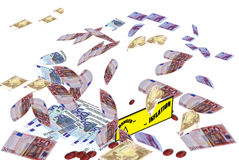 危机货币通货膨胀 图库摄影