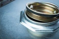 危险化学制品的钢鼓 库存图片