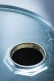 危险化学制品的钢鼓 图库摄影