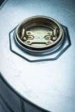 危险化学制品的钢鼓 库存照片