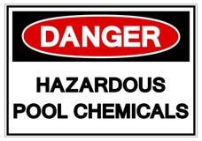 危险危害水池化学符号标志,传染媒介例证,在白色背景标签的孤立 EPS10 向量例证