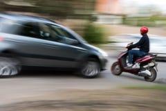 危险城市交通情况 库存照片