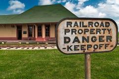 危险属性铁路 库存照片