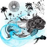 危险掠食性动物鲸鱼 免版税库存照片