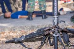 危险枪M-16军用的武器 免版税库存照片
