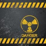 危险核警告 库存照片