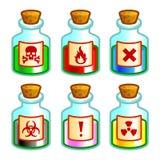 危险液体 库存图片