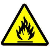 危险火符号 库存图片