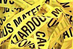 危险物料磁带 免版税库存图片
