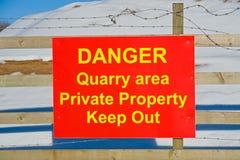 危险猎物符号警告 免版税库存图片