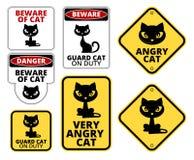 危险猫 库存图片