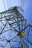 危险电柱子符号 库存照片