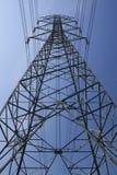 危险电柱子符号 库存图片