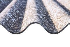 危险石棉屋顶-其中一个危险物 免版税图库摄影