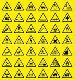 危险等级符号警告 免版税库存图片