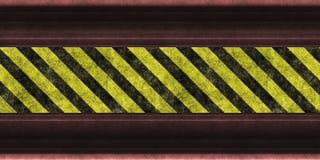 危险等级镶边警告 库存例证