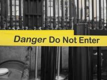 危险输入不是符号 免版税库存图片