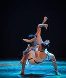 危险连络差事到迷宫现代舞蹈舞蹈动作设计者玛莎・葛兰姆里 免版税库存照片