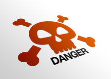 危险透视图符号 库存例证