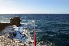 危险钓鱼的问题的日本 免版税库存图片