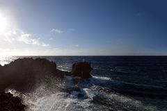 危险钓鱼的问题的日本 图库摄影