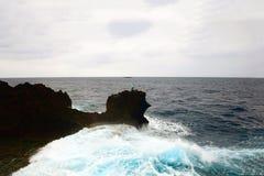 危险钓鱼的问题的日本 免版税库存照片