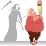 危险饮食 免版税库存图片