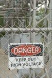 去危险高保留电压 库存照片