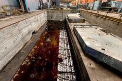 危险水域液体 免版税库存图片