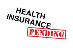 即将发生的健康保险 免版税库存图片