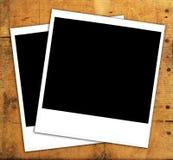 即时照片被风化的木头 免版税库存图片
