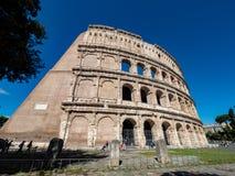 卵形圆形露天剧场在罗马,意大利的中心  免版税图库摄影