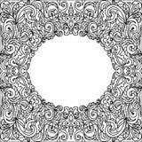 卵形框架zentangle 图库摄影