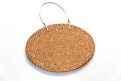 卵形corkboard标志准备好文本 库存照片