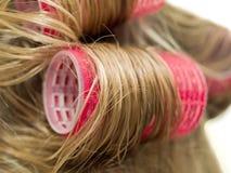 卷发的人头发 免版税库存照片