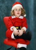 卷曲小的圣诞老人 库存照片