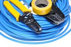 卷曲工具和缆绳 图库摄影
