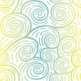 卷曲无缝的样式 五颜六色的向量 库存照片