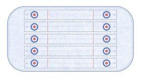 卷曲的体育场顶视图 滑雪雪体育运动跟踪冬天 比赛体育运动 构造蓝色冰 滑冰场 背景花新例证离开牛奶向量 库存照片