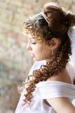 卷曲的新娘 库存照片