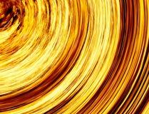 卷曲的明亮的爆炸火在黑背景发出光线 免版税图库摄影